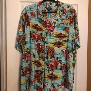 Tops - Read description: Tropical print shirt size 3X
